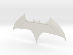 Justice League Batman Batarang  in White Strong & Flexible