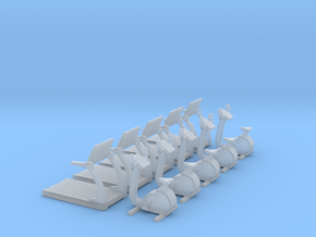 N Scale Fitness Equipment 10pc in Frosted Ultra Detail