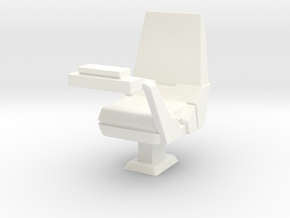 CP05A Sensor Operator's Chair (1/18) in White Strong & Flexible Polished