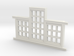 Red Barn Window Section 3x3-3x5 White in White Strong & Flexible