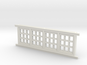 Red Barn Window Section 3x3 White in White Strong & Flexible