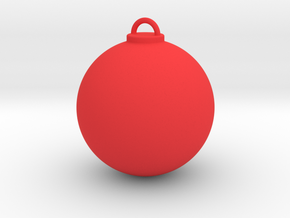 Christmas Ball - Custom in Red Strong & Flexible Polished
