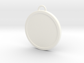 Chirstmas Ball (Flat) - Custom in White Strong & Flexible Polished