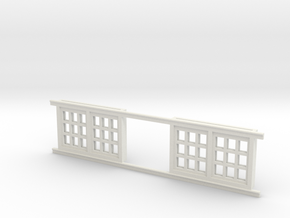 Red Barn Window Section 3x3 Special White in White Strong & Flexible