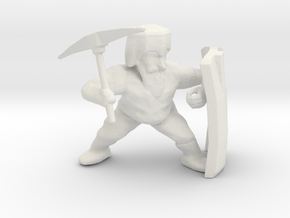 Dwarf Miner in White Strong & Flexible