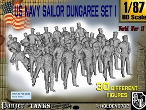 1/87 US Navy Dungaree Set 1 in Frosted Ultra Detail