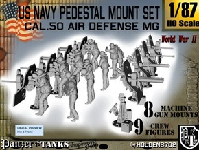 1-87 US Navy  AA M Gun Pedestal Mount.stl in Frosted Ultra Detail