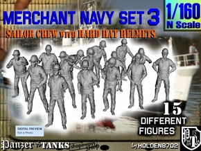 1-160 Merchant Navy Set 3 in Frosted Ultra Detail