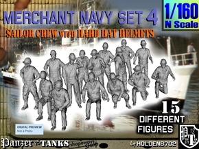1-160 Merchant Navy Set 4 in Frosted Ultra Detail