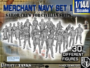 1/144 Merchant Navy Crew Set 1 in Frosted Ultra Detail