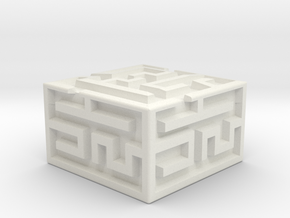 Maze KeyCap in White Strong & Flexible