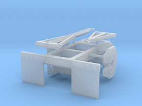 1/50th Tandem Axle Converter Dolly for trailers tr in Frosted Ultra Detail