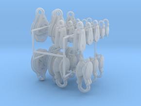 large set rigging blocks and pulleys in Frosted Ultra Detail