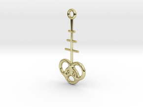 Interlocking rings earring in 18k Gold