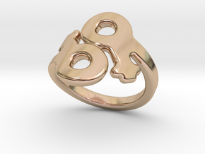 Lesbo Ring 15 – Italian Size 15 in 14k Rose Gold Plated