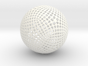Designer Sphere in White Strong & Flexible Polished
