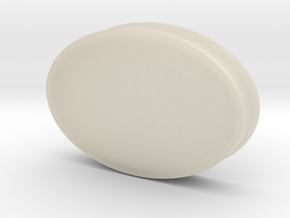 Soapdish-oval in White Acrylic