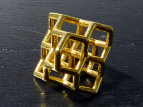 Diamond structure (tiny) in 18K Gold Plated