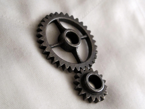 Semi-Formal Pocket Gear Train in Blue Strong & Flexible Polished
