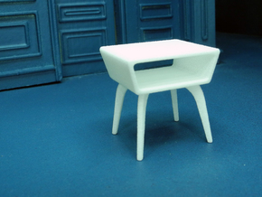 1:24 Moderne Angled Side Table in White Strong & Flexible