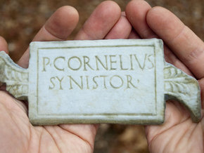 "P. Cornelius / Synistor Inscription (6"") in Full Color Sandstone"