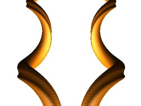 Kudu Horns - a pair in White Strong & Flexible
