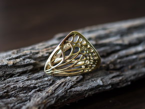 Butterfly Ring [ Size 4 ] in Polished Brass
