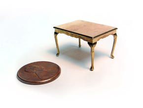 1:48 Queen Anne Dining Table in Raw Brass