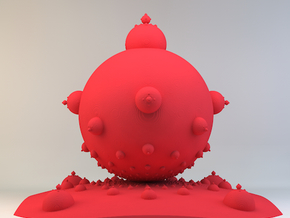 Mandelbulb in Red Strong & Flexible Polished