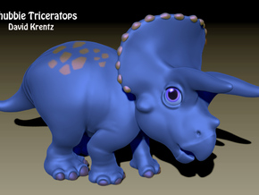 Triceratops Chubbie Krentz in Pink Strong & Flexible Polished