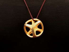 Tros Pendant (#2419) in Polished Gold Steel