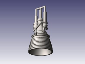 J-2 Engine (1:144) for Saturn IB or V in Frosted Ultra Detail