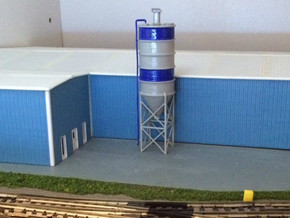 N Scale Cement Silo WSF in White Strong & Flexible
