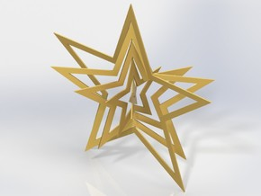 Christmas Star Ornament in White Strong & Flexible