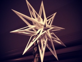 "6"" Modern Geometric Christmas Tree Star in White Strong & Flexible"