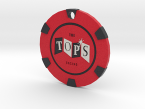 The Tops Chip Pendant in Full Color Sandstone