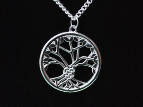 Tree Of Life 30mm Diameter in Polished Silver
