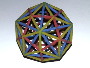 Triacontahedron in Full Color Sandstone