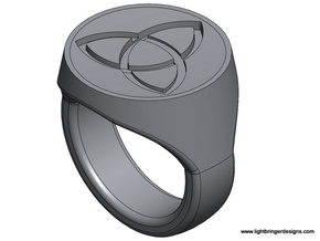 Trinity Signet Ring in Stainless Steel