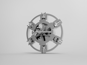 A Radial Engine in White Strong & Flexible