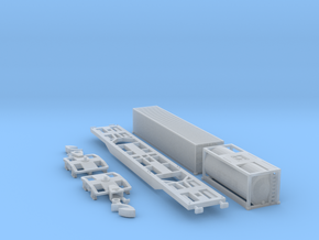 Containertragwagen Sgnss mit 20' + 40' Container in Frosted Ultra Detail