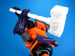 Cosmic Hammer - TF Compatible 5mm Weapon in White Strong & Flexible