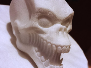 Skull in White Strong & Flexible