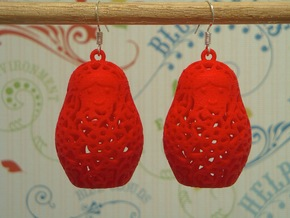 Matryoshka Earrings in White Strong & Flexible