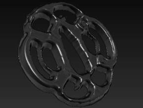 Tsuba  in Polished Metallic Plastic