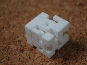 Cubed Burr II in White Strong & Flexible