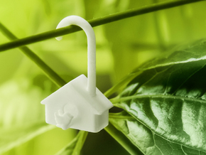 Birdhouse - very small tree decoration in White Strong & Flexible