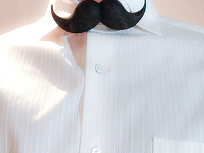 Bow_tie_mustache in Black Strong & Flexible