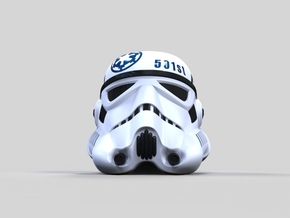Imperial Stormtrooper Helmet 501st in Full Color Sandstone