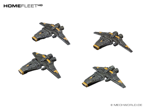 HOMEFLEET Corvette Squadron - 4 ships in Frosted Ultra Detail